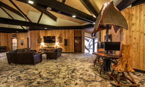 Main lodge lobby interior